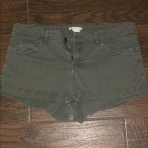 H&M Olive Shorts